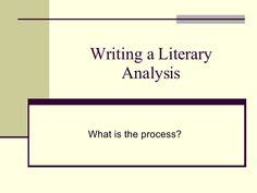 Literary Analysis & Essay Writing Guide